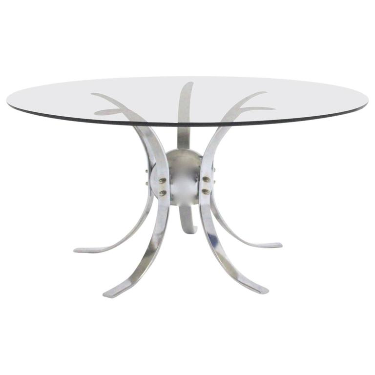 Chromed Metal Sputnik Coffee Table, 1960s
