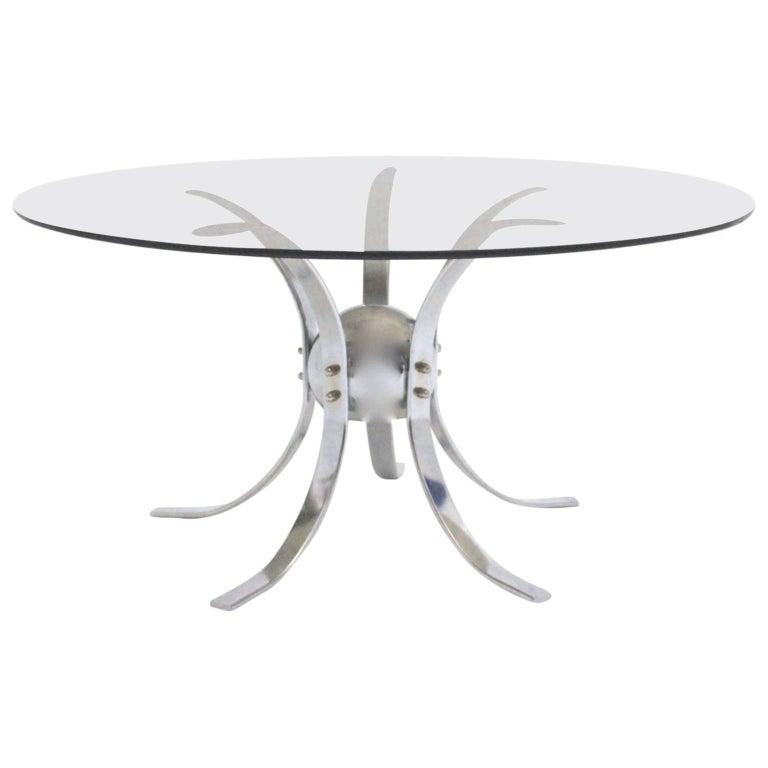 Chromed Metal Sputnik Coffee Table, 1960s For Sale