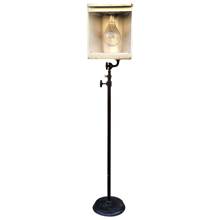 Industrial stage light floor lamp by capitol theatre for Roosevelt 1 light floor lamp