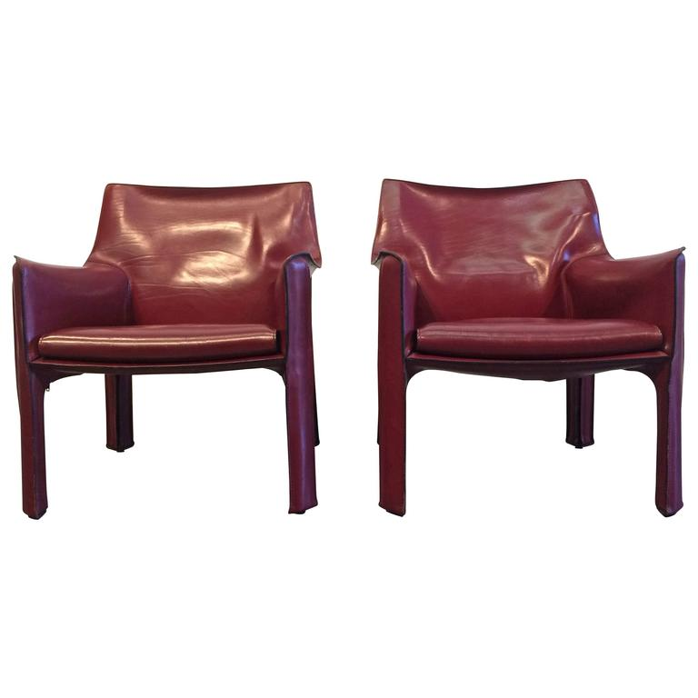 Pair of Cab Lounge Chairs by Mario Bellini for Cassina at 1stdibs – Mario Bellini Chair