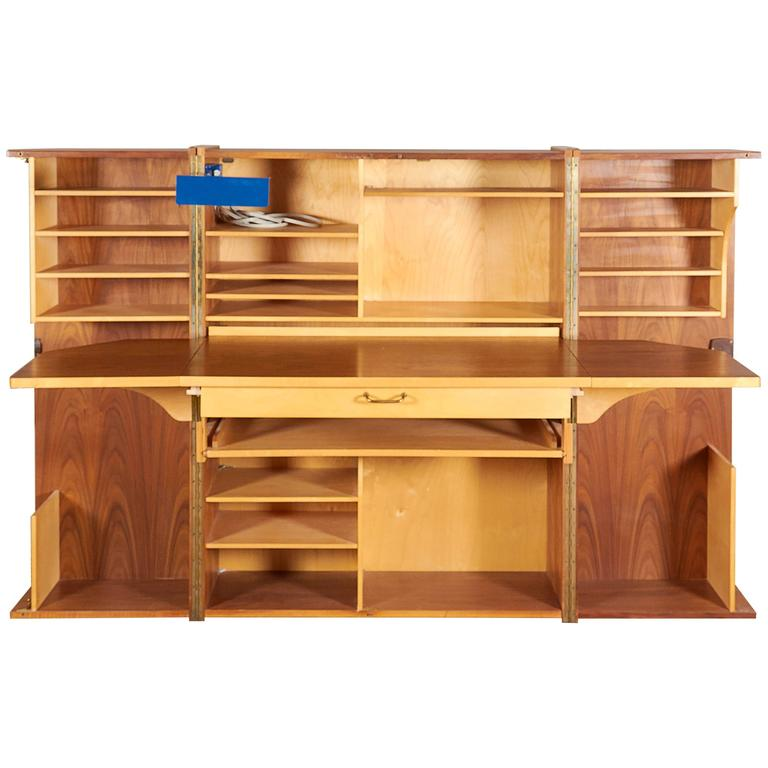 Superieur Mummenthaler And Meier Teak U0027Magic Boxu0027 Fold Out Secretary Desk And Cabinet  ...