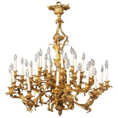 Fantastic Late 19th Century Gilt Bronze Thirty-Six-Light Chandelier