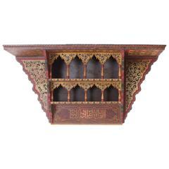 Early 20th Century Moroccan Wall Shelf