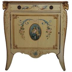 19th Century Neoclassical Italian Painted Commode in the English Adams Taste
