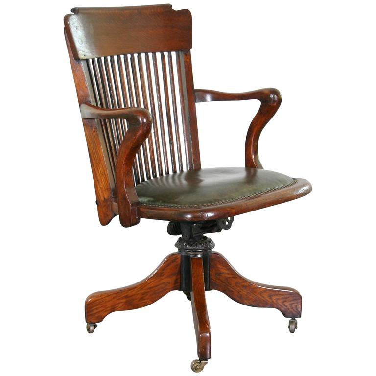 1930s American Oak Desk Chair For