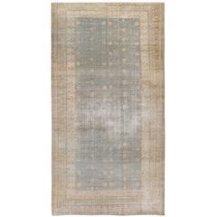 Antique Distressed Khotan Samarkand Rug
