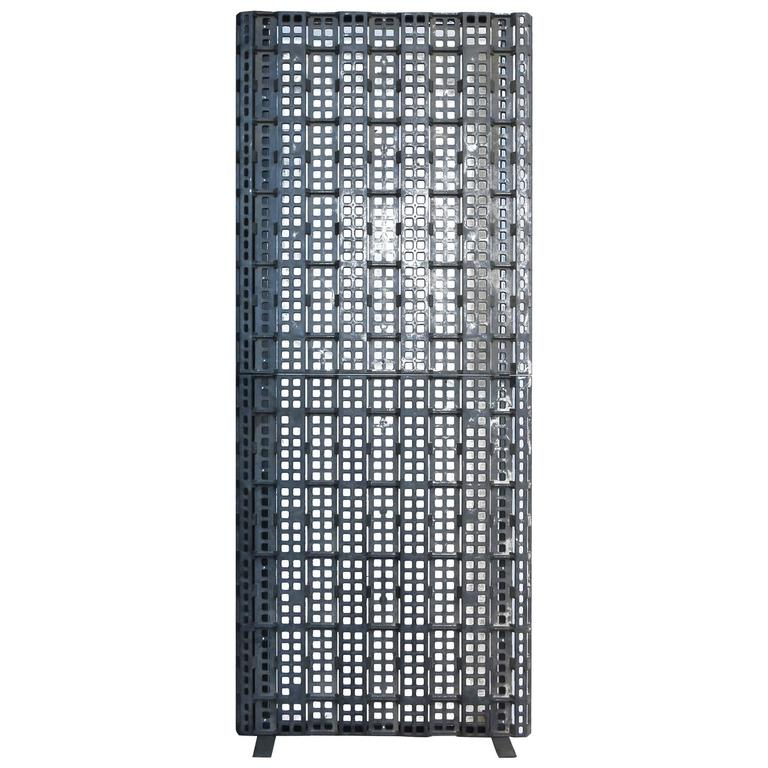 Industrial loft wall divider for sale at 1stdibs for Industrial room dividers
