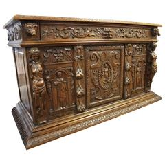 19th Century French Renaissance Carved Chest