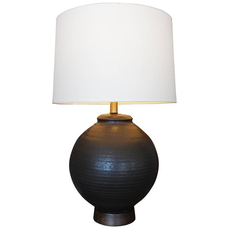 Large Ceramic Table Lamp By Affiliated Craftsman For Sale