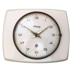 Mid-Century Ceramic Wall Clock by Pollmann
