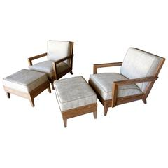"The ""Las Palmas"" Chair and Ottoman by Christopher Anthony Ltd."