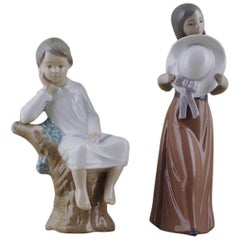 Two Lladro Figurines in Porcelain