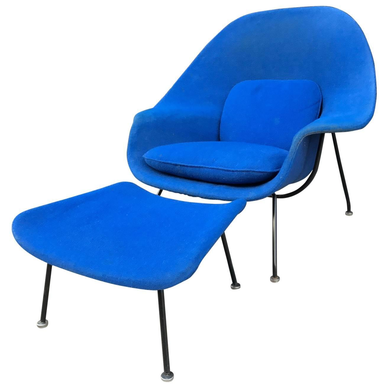 eero saarinen womb chair and ottoman for knoll for sale at 1stdibs