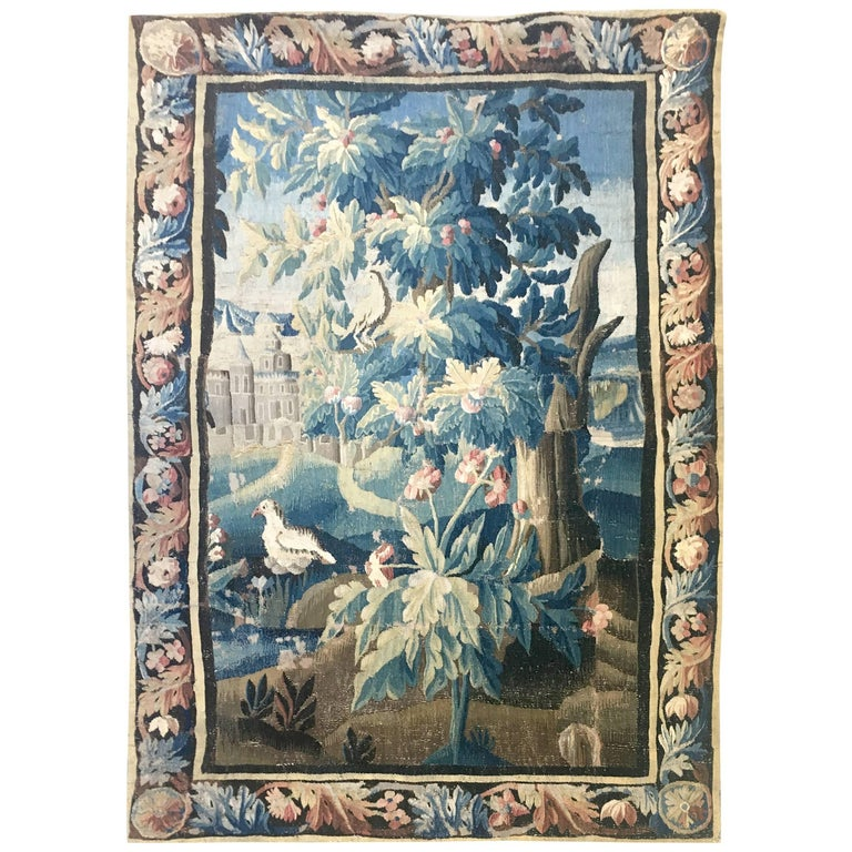Large 18th Century French Aubusson Tapestry For Sale