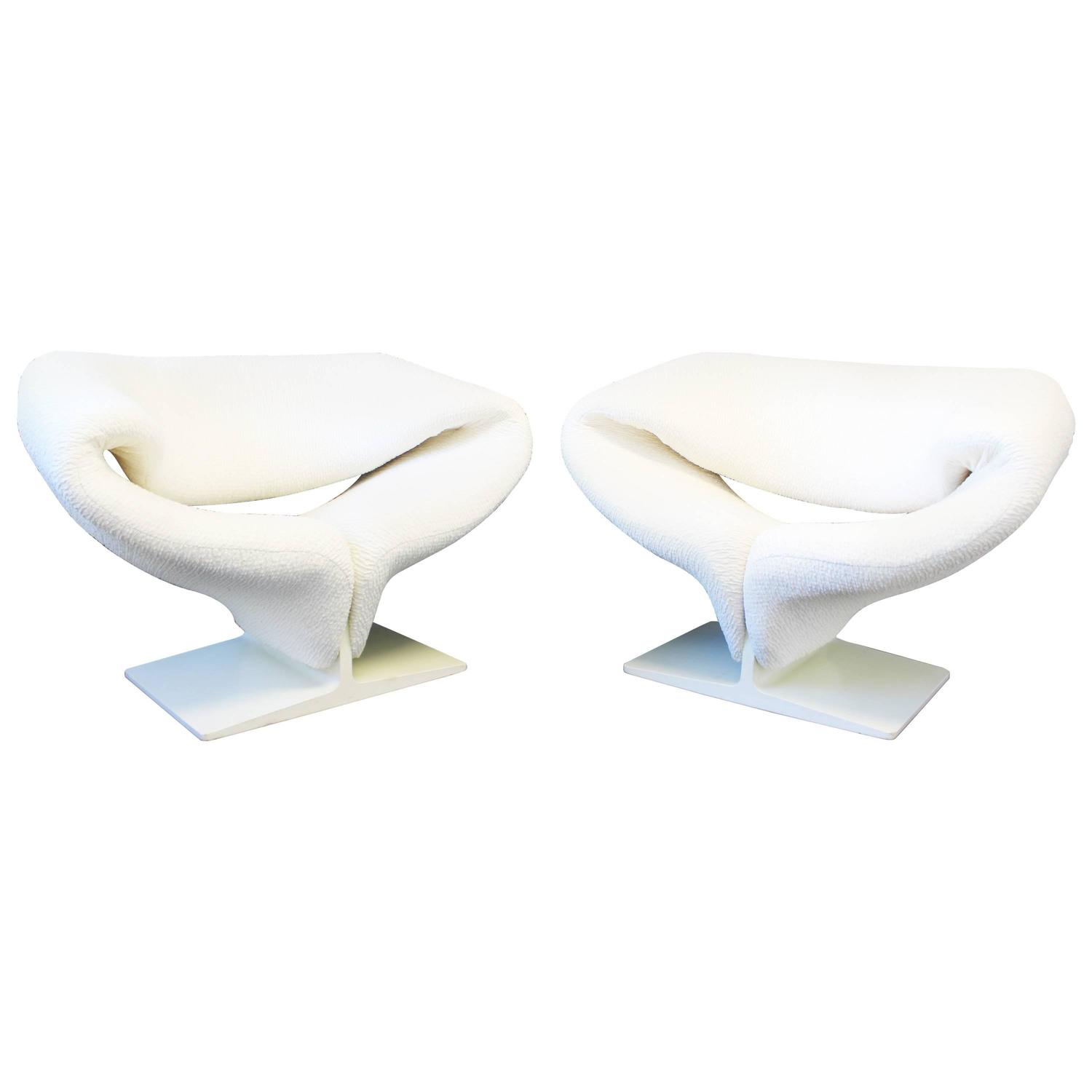 Pierre Paulin Ribbon Chairs In Missoni Fabric At 1stdibs: Signed Pair Of Pierre Paulin Ribbon Chairs By Artifort