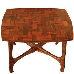 Don Shoemaker Side Table with Parquetry Top