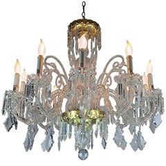 20th Century Italian Crystal Twelve-Light Chandelier