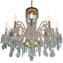 Mid-20th Century Italian Bohemian Crystal Twelve-Light Chandelier