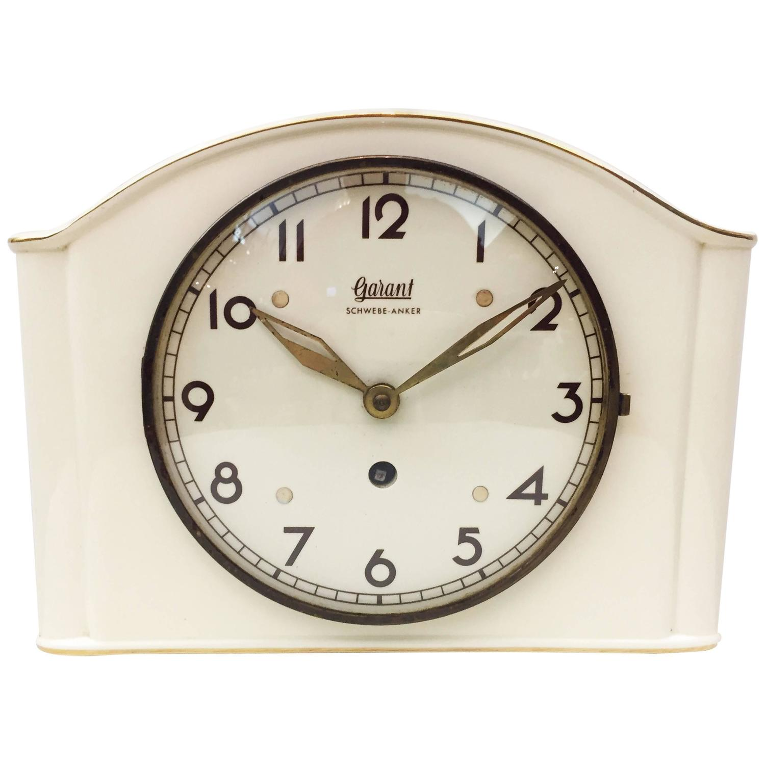 German ceramic wall clock by garant for sale at 1stdibs - Wanduhr modern weiay ...