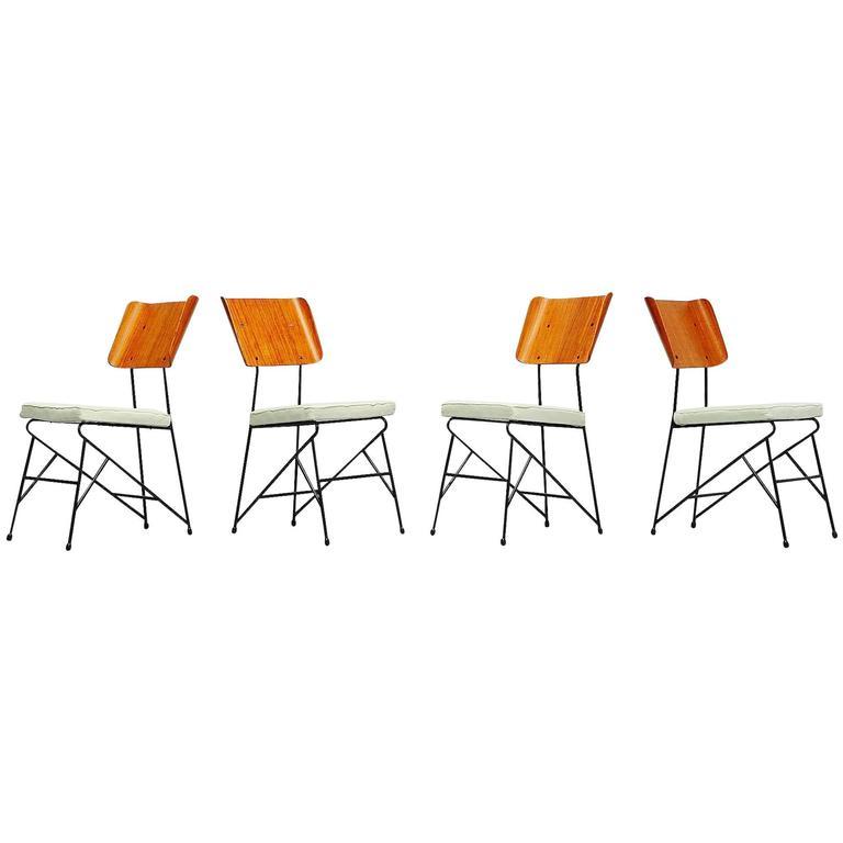 Carlo Ratti Dining Chairs for Legni Curva, Italy, 1950 1