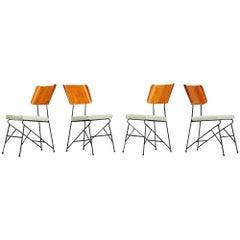 Carlo Ratti Dining Chairs for Legni Curva, Italy, 1950