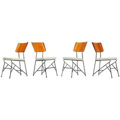 Carlo Ratti Dining Chairs for Legni Curva, Italy, 1950