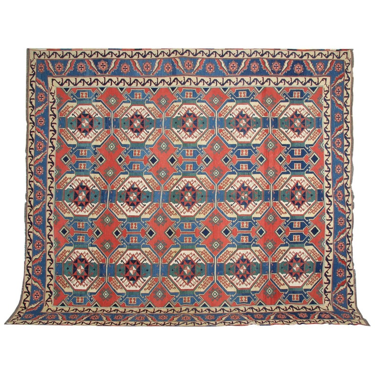Antique Rugs, Persian Rugs, Sumakh Kilim Rugs, Carpet from Iran