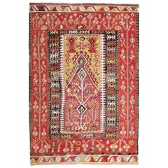 Antique Rugs, Hand Made Carpet Turkish Rugs, Anatolian Kilim Rugs for Sale