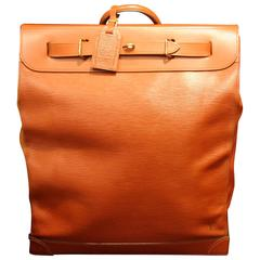 Louis Vuitton Steamer Bag Epi Leather, Golden Brown Color