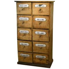 French Pine Seed Cabinet