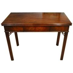Fine Cuban Mahogany George II Period Antique Card Table by Phillip Bell of Lon