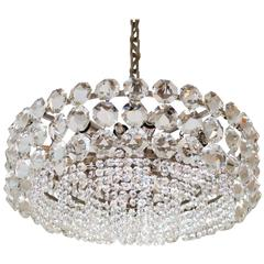 Stunning Large Crystal Glass Chandelier by Bakalowits