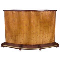 Mid-Century Bamboo Tiki Bar