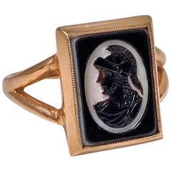 Antique 14-Karat Hardstone Intaglio Ring, circa 1900