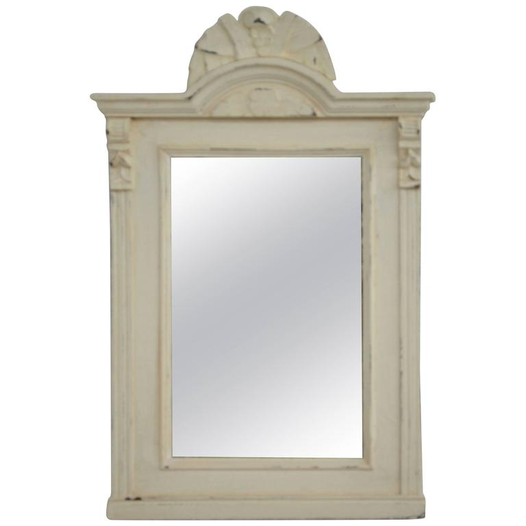 Painted Pine Framed Mirror At 1stdibs