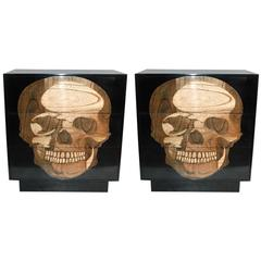 Pair of Sculptural Skull Commodes