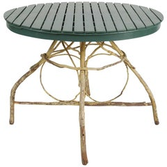 Antique Twig and Open Slated Round Table