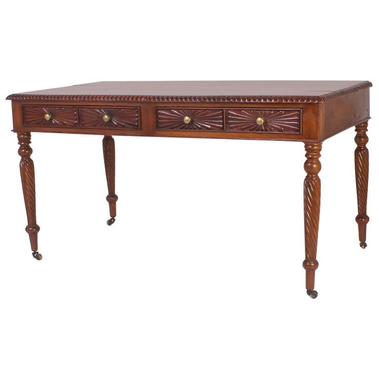 19th Century British Colonial Writing Desk Or Library Table 1