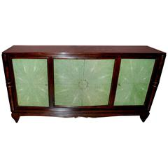 1940s French Art Deco Style Shagreen Credenza