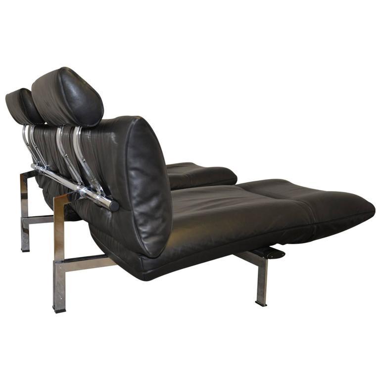 Vintage swiss de sede sofa or chaise longue 1980s for - Medidas de sofas chaise longue ...