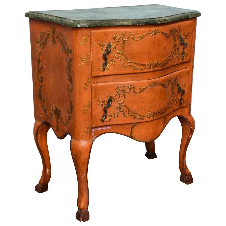 Rococo Sicilian Painted Chest, 18th Century For Sale