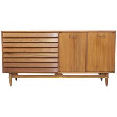 Merton Gershon Natural Walnut Cabinet for American of Martinsville