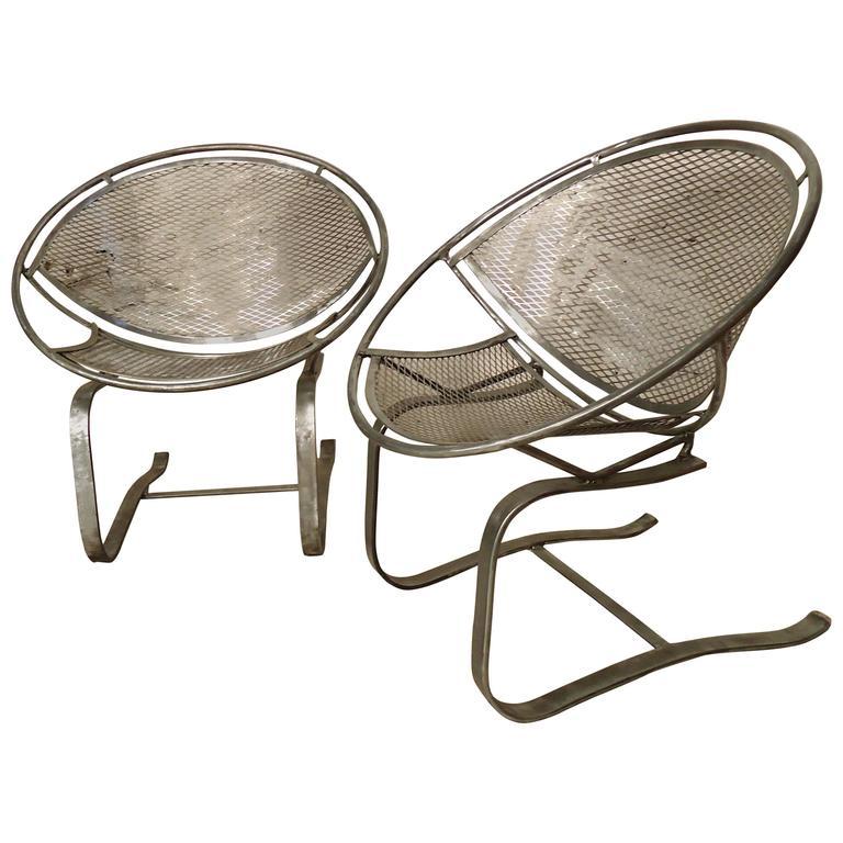 "Refinished Salterini ""Radar"" Mid-Century Chairs"