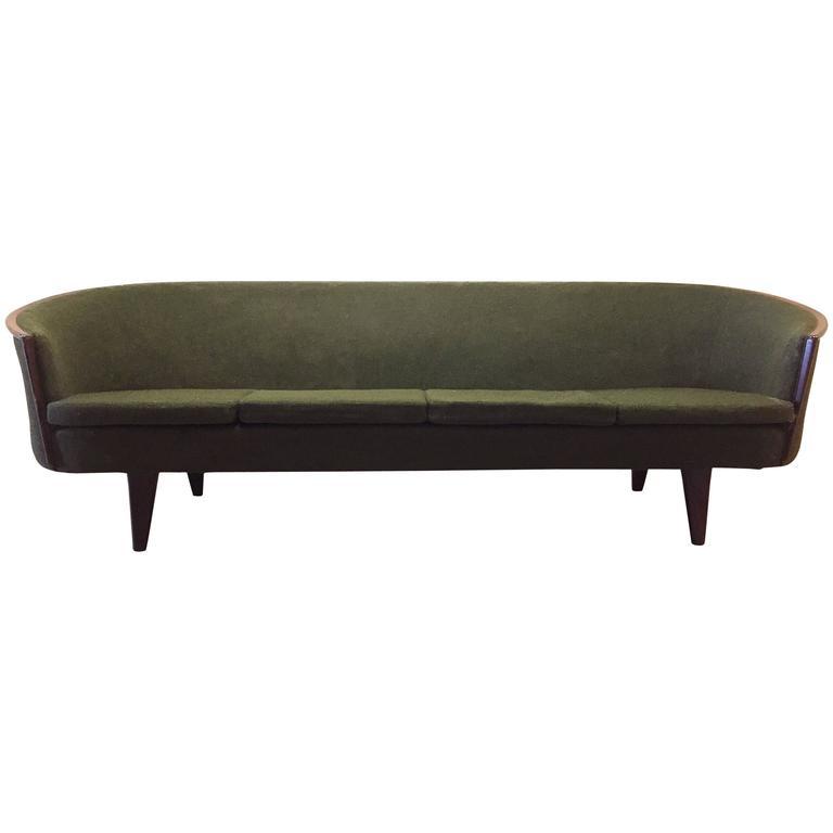 Rare Vintage Danish Modern Sofa by Pi Langlos Fabrikker, Stranda
