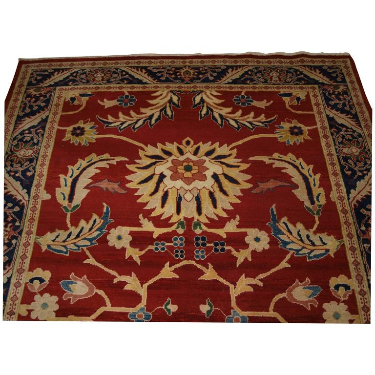 Large Western Rugs: Old Ziegler Style Rug With Large Scale Floral Design For