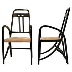 Pair of Thonet Armchairs, Model No. 511 by Wiener Werkstätte
