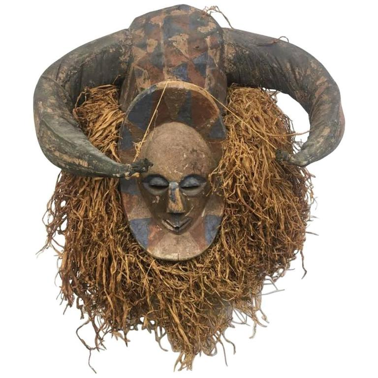 Antique African Carved Mask/Head Dress
