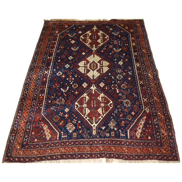 Persian Tribal Rugs: Antique South West Persian Rug With Tribal Design For Sale