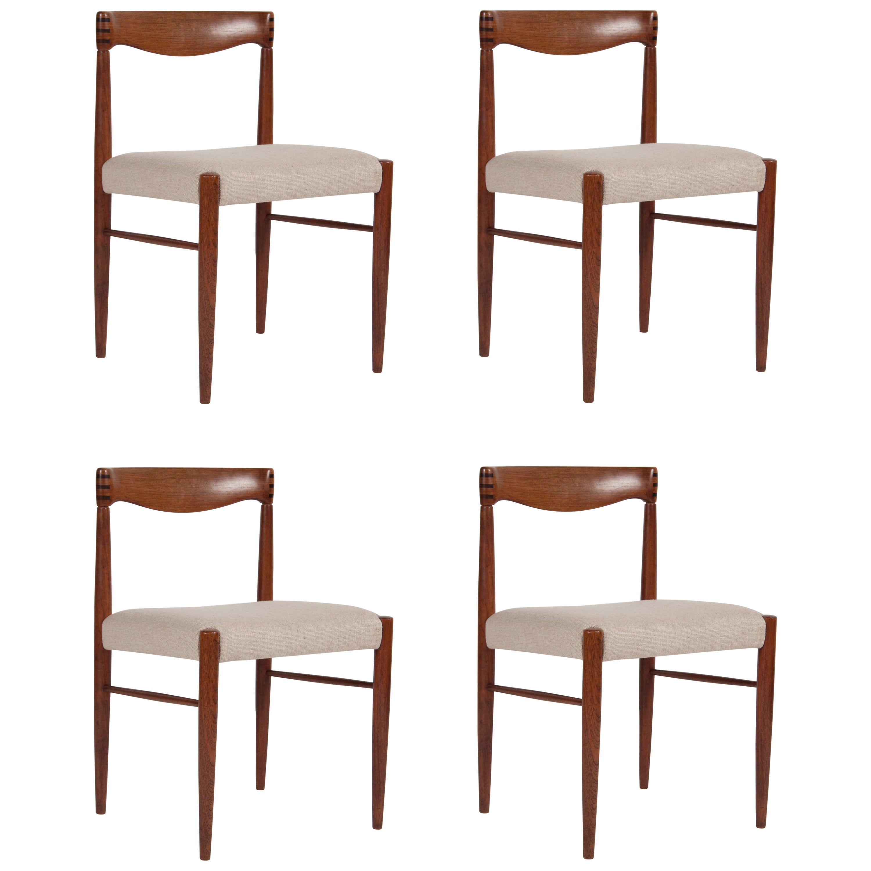 Set of Four H. W. Klein for Bramin Dining Chairs