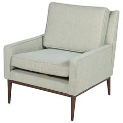 Paul McCobb Upholstered Armchair with Walnut Legs